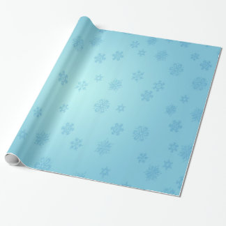 Papier Cadeau Flocons de neige bleus