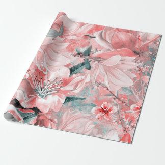 Papier Cadeau flowers2bflowers et #flowers de motif d'oiseaux