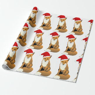 Papier Cadeau Fox de Père Noël