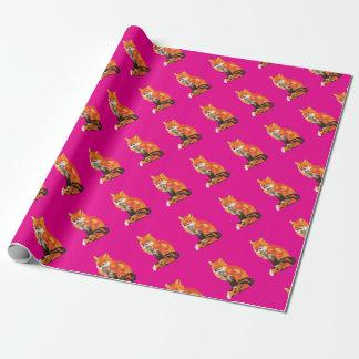 Papier Cadeau Fox génial dans le rose