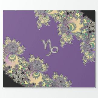Papier Cadeau Fractale de Capricorne de signe de zodiaque