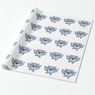 Papier Cadeau Garçon bleu de hibou de bébé de danse