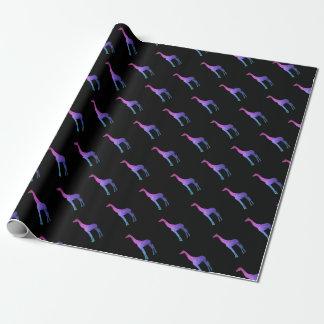 Papier Cadeau Girafe géométrique avec l'idée vibrante de cadeau