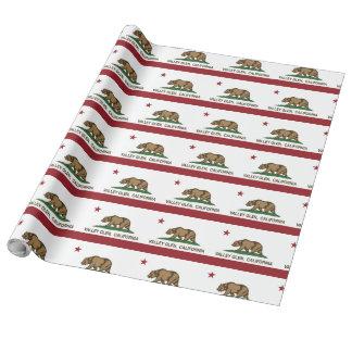 Papier Cadeau Gorge de vallée de drapeau de CaliforniaRepublic