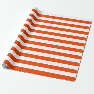Papier Cadeau Grand papier d'emballage de rayures oranges et