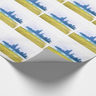 Papier Cadeau Gratte-ciel de Chicago balayés par air