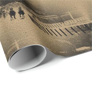 Papier Cadeau Grunge boueuse de voie de course de chevaux