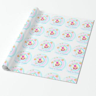 Papier Cadeau Gymnastique - amour d'I à dégringoler papier