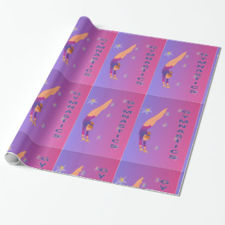 Papier Cadeau Gymnastique - enveloppe de cadeau de fille de