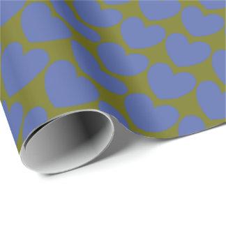 Papier Cadeau HAMbyWG - enveloppe de cadeau - coeurs de bleu de