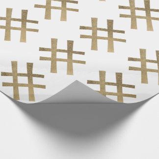 Papier Cadeau Hashtag d'or