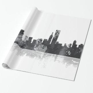 Papier Cadeau HORIZON de CHICAGO L'ILLINOIS - papier d'emballage
