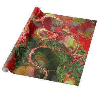 Papier Cadeau imaginaire de fleur de fractale