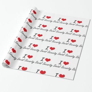 Papier Cadeau J'aime la sécurité sociale