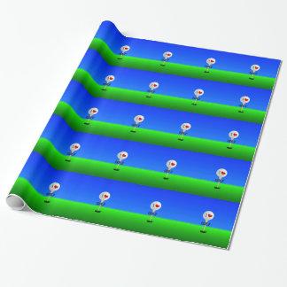Papier Cadeau J'aime le golf, boule de golf sur la pièce en t