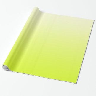 Papier Cadeau Jaune au néon à la mode au gradient blanc vintage