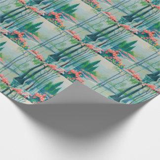 Papier Cadeau Joli papier d'emballage pittoresque en pastel du