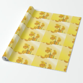 Papier Cadeau Jonquille jaune de narcisse