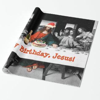 Papier Cadeau Joyeux anniversaire, Jésus ! Noël drôle
