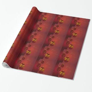 Papier Cadeau Joyeux Noël rouge