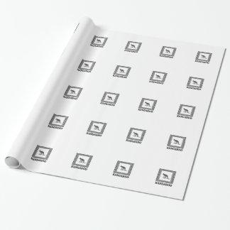 Papier Cadeau kangourou carré