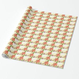 Papier Cadeau Kiwi et poussin avec le papier de Noël de