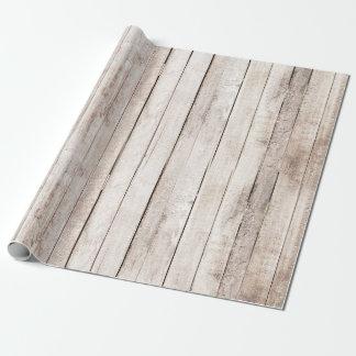 Papier Cadeau La grange en bois rustique embarque le mariage de