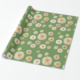 Papier Cadeau La marguerite fleurit le papier d'emballage