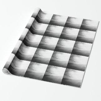 Papier Cadeau La vie est une plage - photo typographique noire
