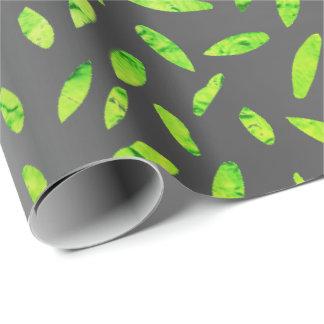 Papier Cadeau L'aluminium olive verdissent vert le graphite gris