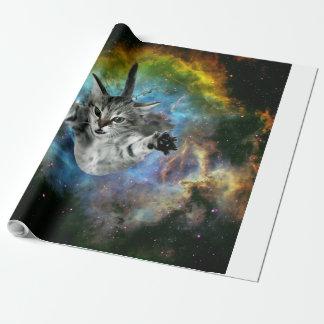 Papier Cadeau Lancement de chaton d'univers de chat de galaxie