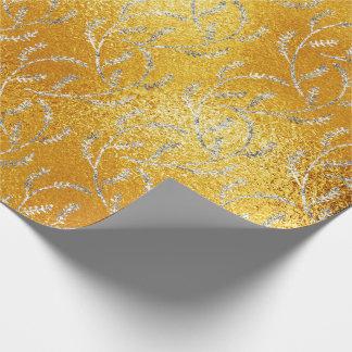 Papier Cadeau Laurier floral d'aluminium de citron en verre