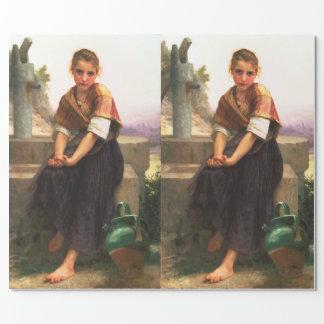Papier Cadeau Le broc cassé par William-Adolphe Bouguereau