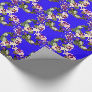Papier Cadeau Le chèvrefeuille fleurit le papier d'emballage