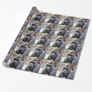 Papier Cadeau Le gorille indiquent