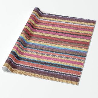 Papier Cadeau Le motif de rayures de tissu a coloré I + vos
