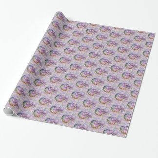 Papier Cadeau Le Nautilus iridescent de fractale a couvert de