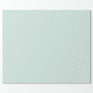 Papier Cadeau Le papier d'emballage mat 30 de neige bleue avance