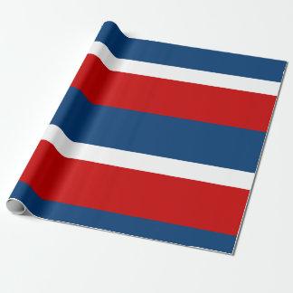 Papier Cadeau Le papier d'emballage mat blanc et bleu rouge