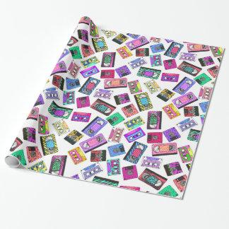 Papier Cadeau Le petit rétro néon des années 90 des années 80 a