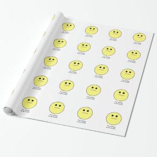 Papier Cadeau Le visage souriant pour ceux qui ne sourient pas