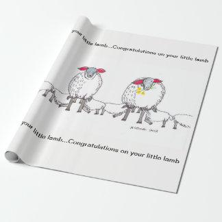 Papier Cadeau Les agneaux de maman viennent pour voir le nouveau