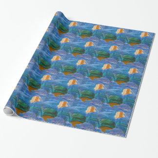 Papier Cadeau Les belles piscines abstraites de roche ont