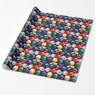 Papier Cadeau Les boules de piscine brillantes se ferment