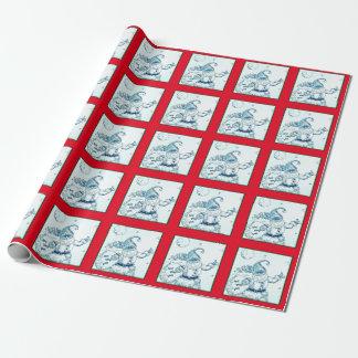 Papier Cadeau Les pouces lèvent Père Noël