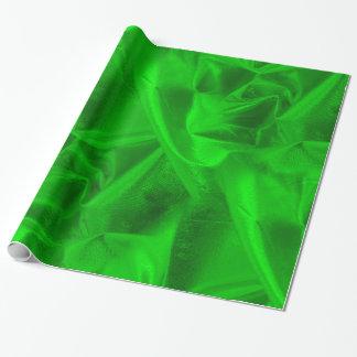 Papier Cadeau Les riches ont chiffonné la texture verte