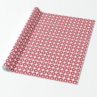 Papier Cadeau Lettre O - Étoiles de blanc sur rouge foncé