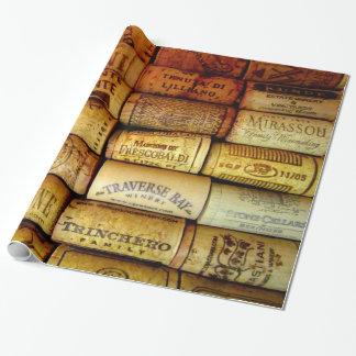 Papier Cadeau Lièges de vin en abondance