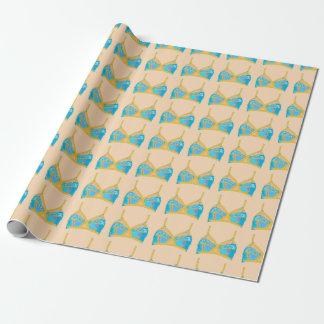 Papier Cadeau Lingerie d'art de bruit en bleu et or