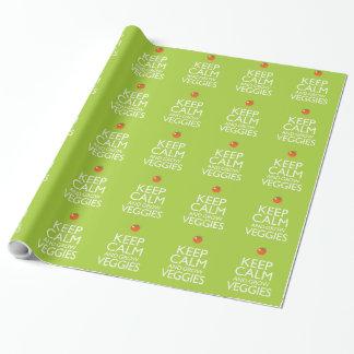 Papier Cadeau Maintenez calme et cultivez le légume